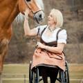 Rollstuhl, Pferd, Hafinger Mailänder, Ivonne Hellenbrnad